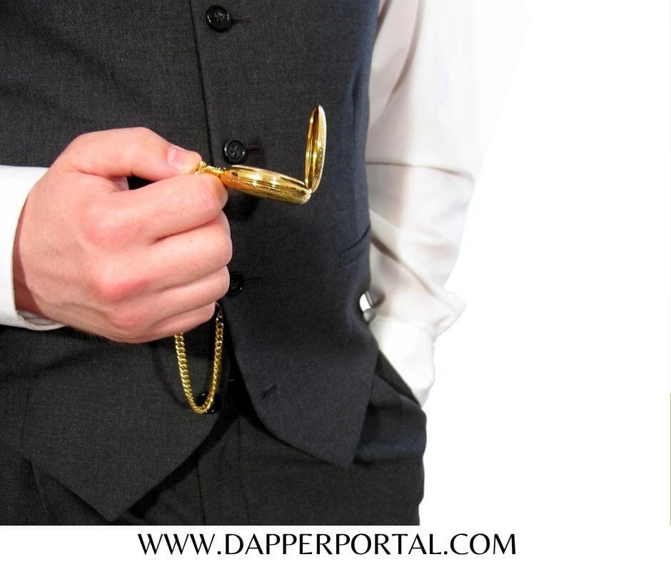How to wear a pocket watch for a formal event
