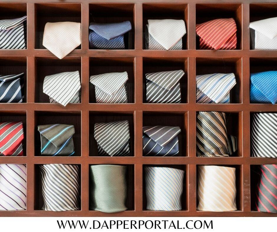 how to store ties at home