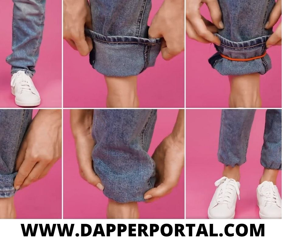 how to make jeans tighter at the ankle with rubber band
